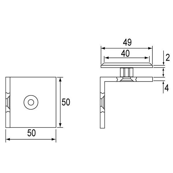 SS-1108 Glass Clip-1
